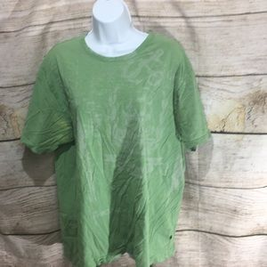 Nautica Jeans Co XL printed shirt green pattern